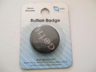 Goth button badge (Code 0383)